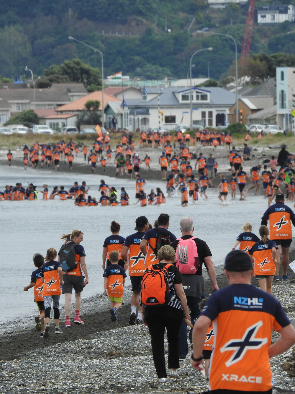 The Orange Tide navigate Hutt City, 2019.