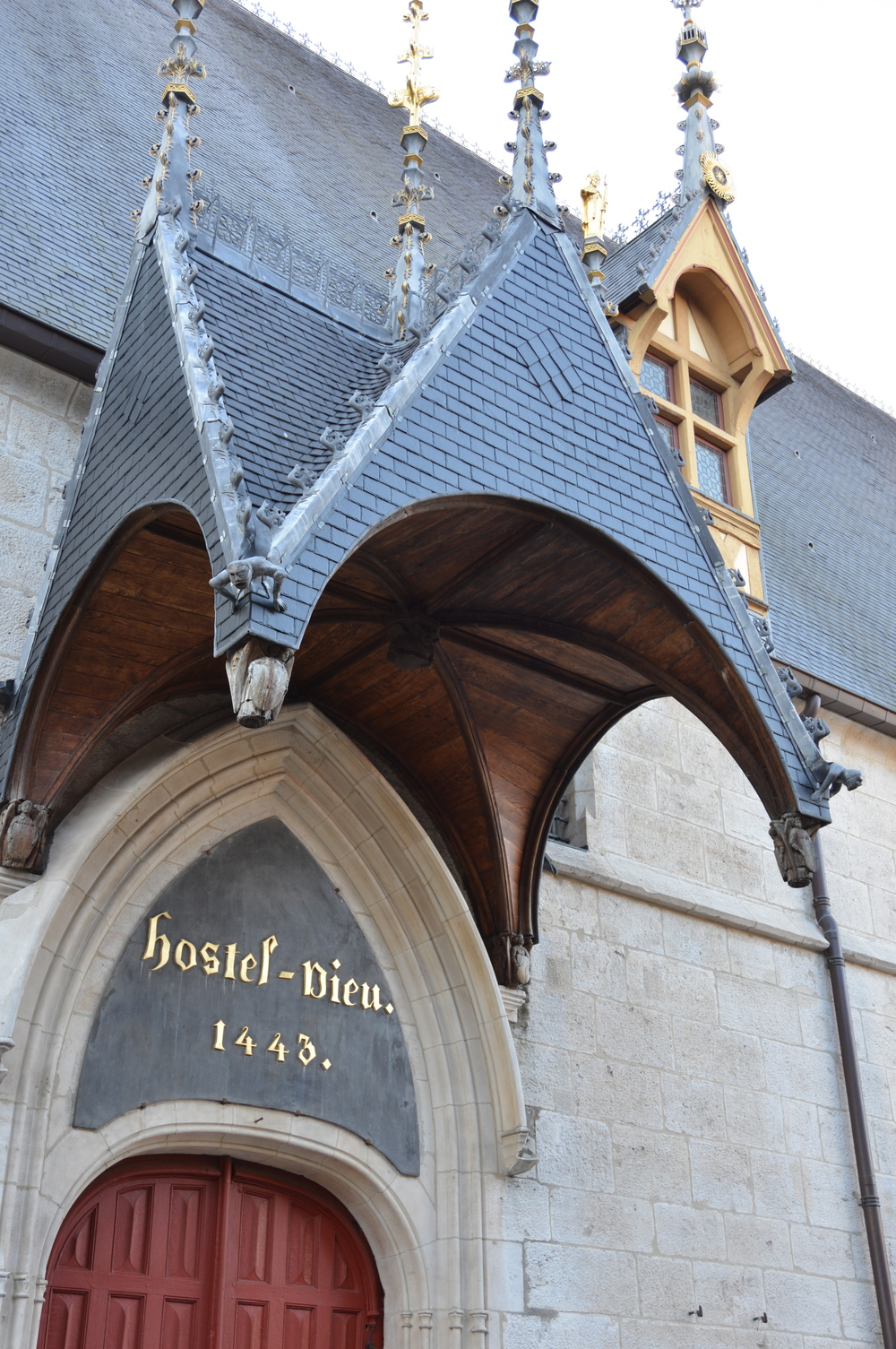The Hospices de Beaune - the main tourist attraction in the centre of Beaune, Burgundy