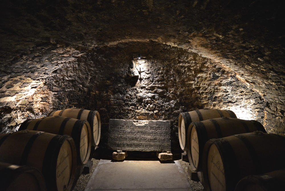 The medieval wine cellars of Joseph Drouhin, Beaune, Burgundy