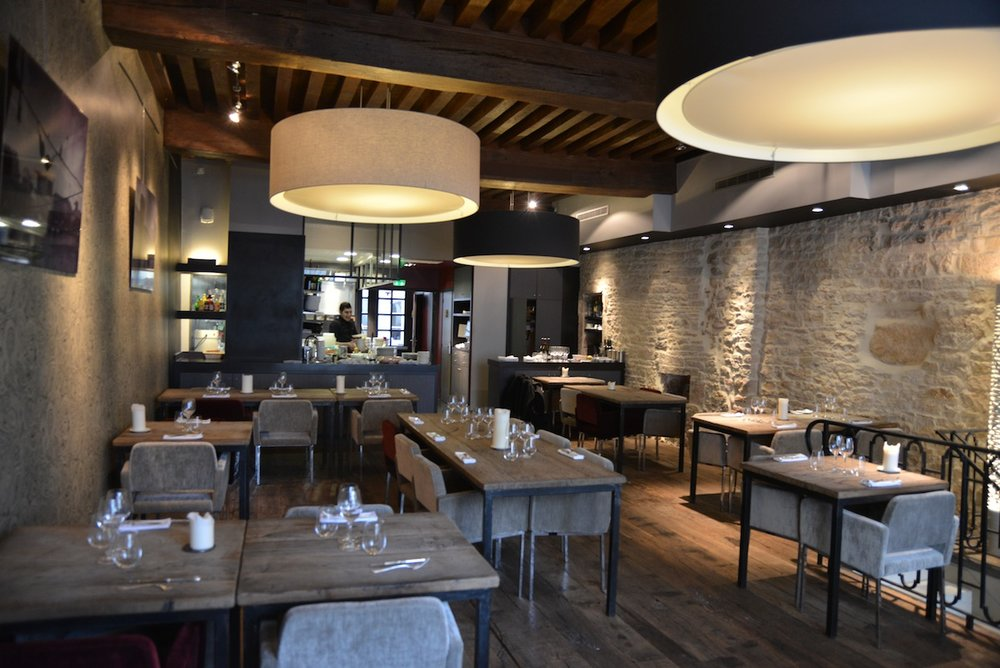 Maison des Cariatides in the old quarter of Dijon - an excellent value prix fix menu