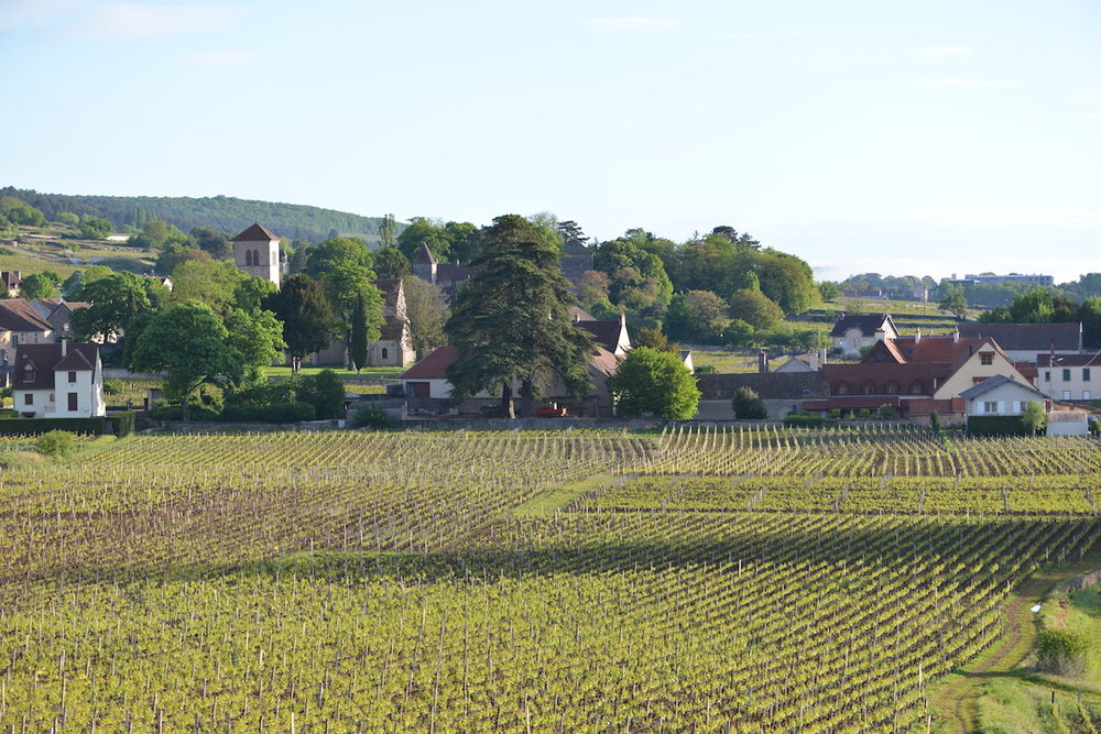 Les Deux Chevres -the red rooves to the right of the image.
