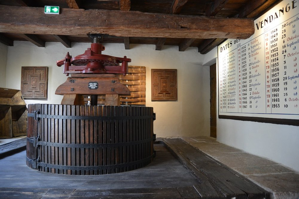 The Gaillot 1863 wine press