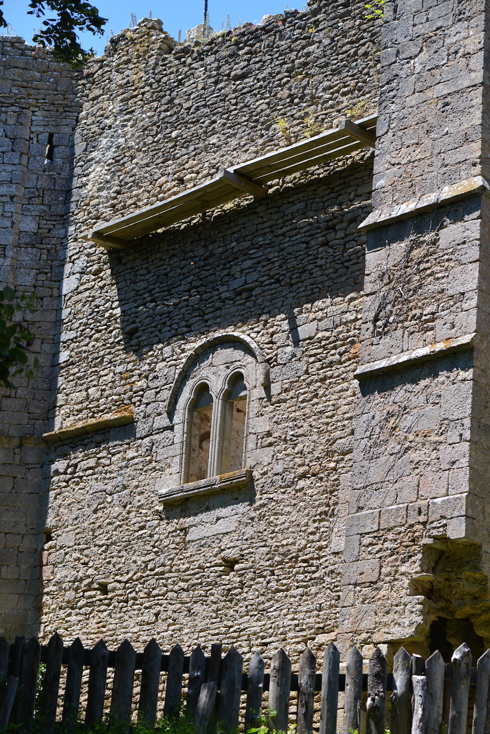 The magnificent 12C wall and window
