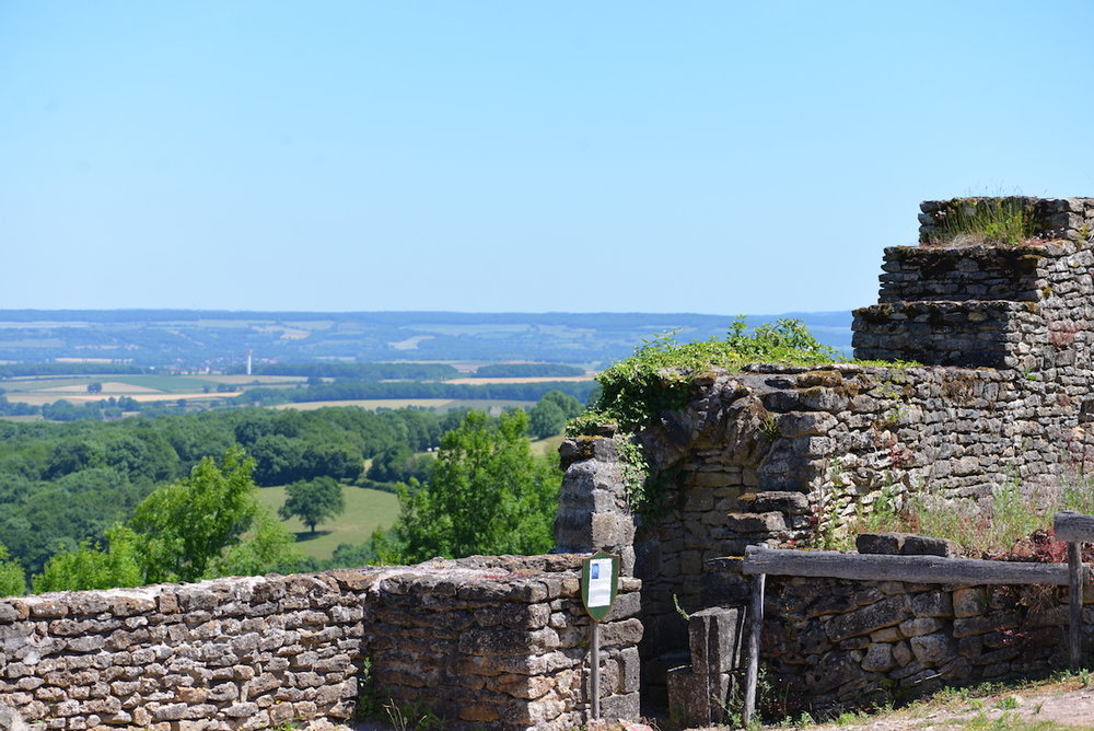View from the ramparts over the Morvan