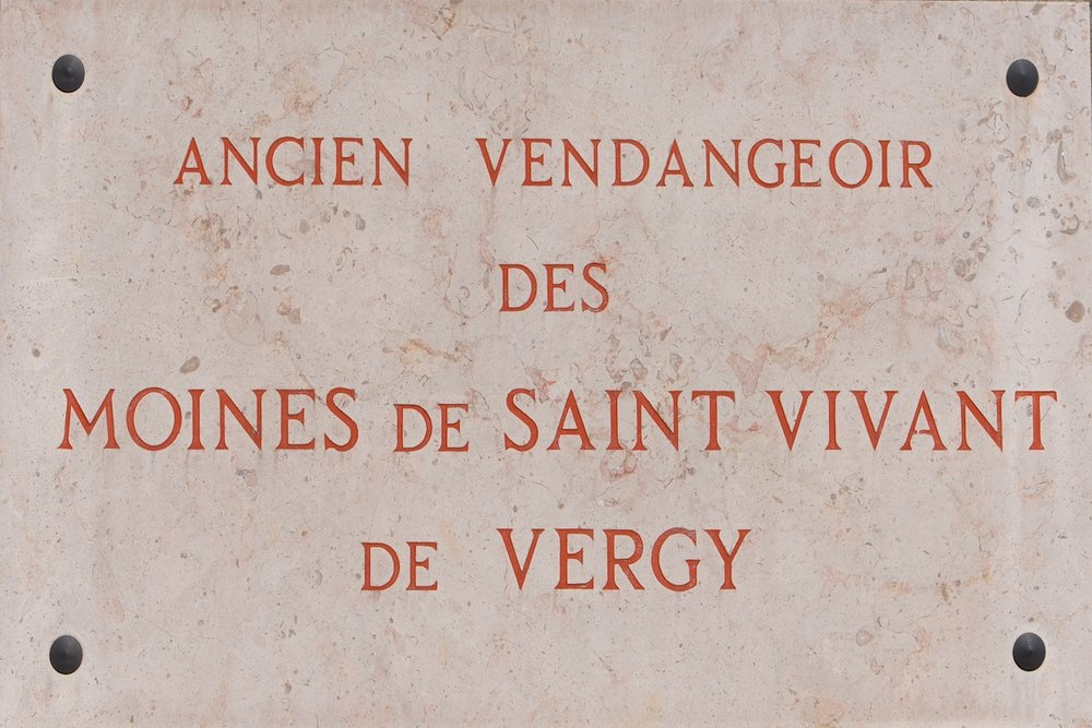 The plaque outside Domaine de la Romanée-Conti