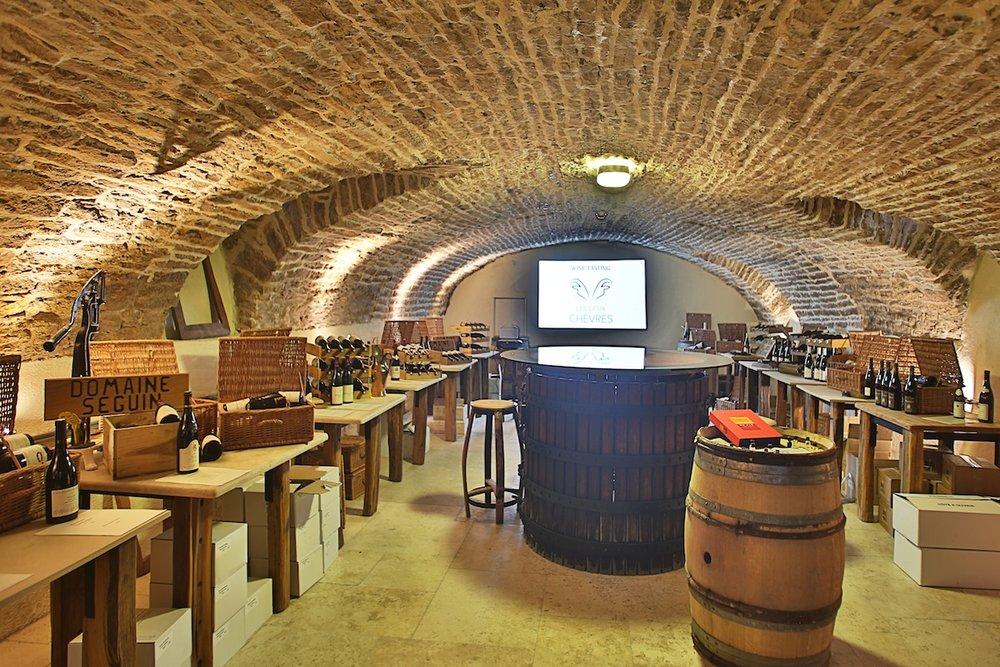 The wine club tasting cellar