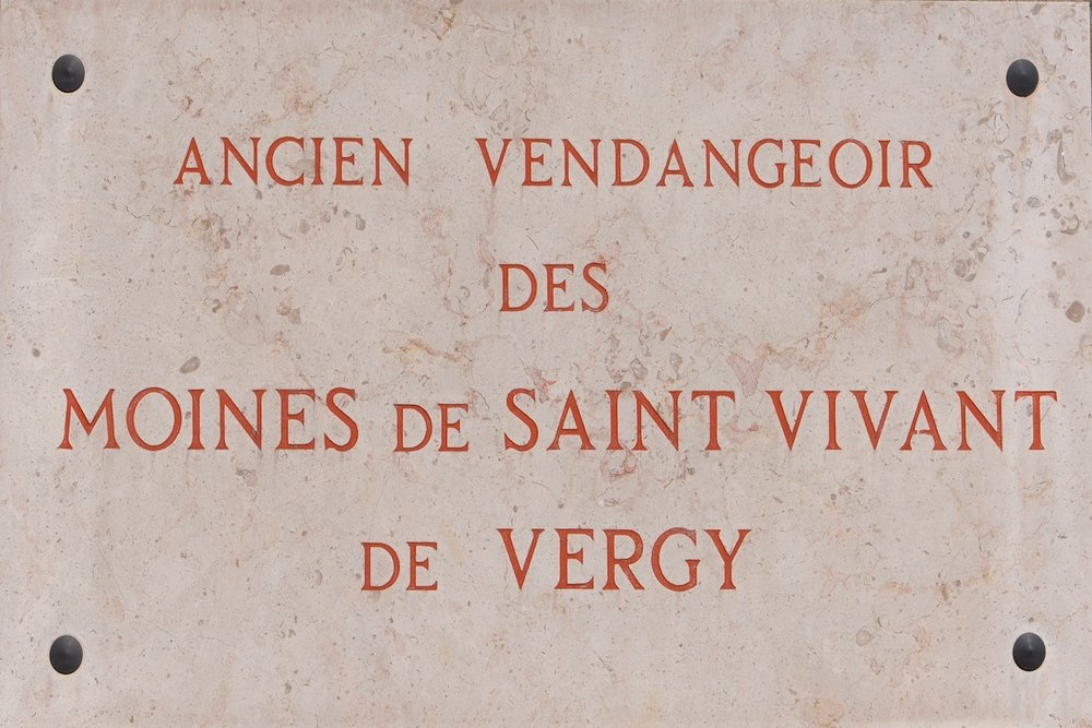 The plaque outside Romanée-Conti