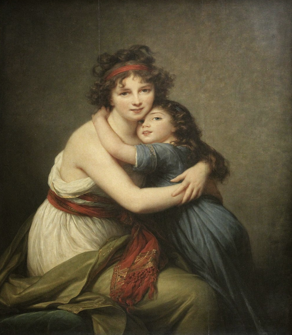 Self portrait with daugher 1798