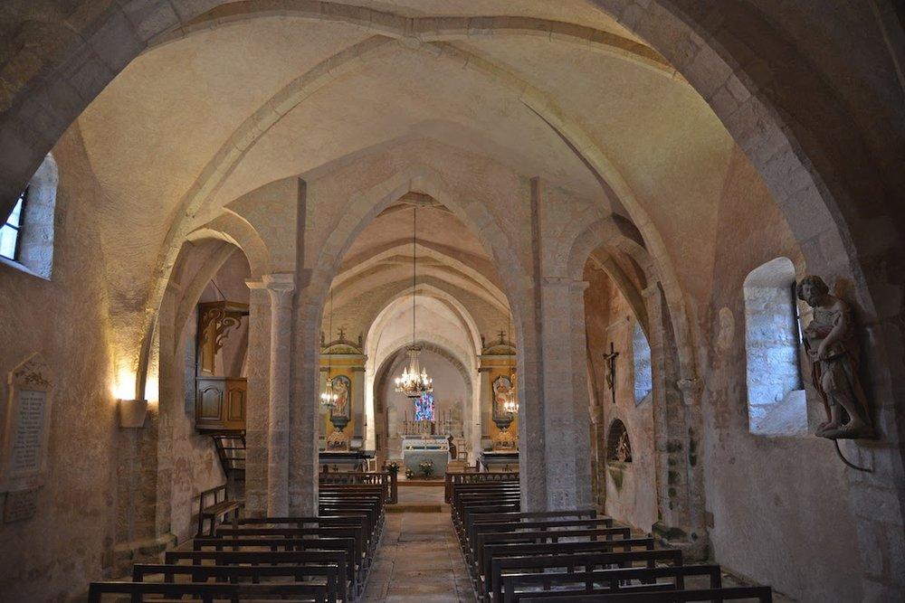 Interior of St Saturnin