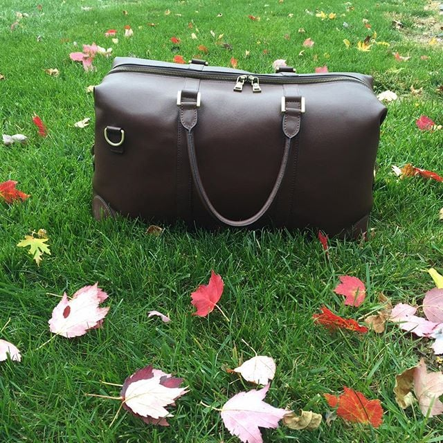 Can't wait to use the #BenchmarkBags #weekender for a #Thanksgiving getaway! #menstyle #gentlemanstyle #fall #leatherbags #leathergoods
