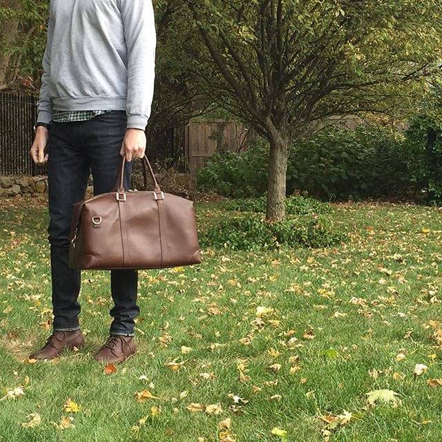 Tomorrow is Friday!  Better start packing that #BenchmarkBags #weekender.  Don't forget - follow our account before 11/20 and get 10% off your purchase. We'll direct message you with the promo code.  #BenchmarkBags #leatherbags #leathergoods #weekender #Fall #travel #menstyle #dapper