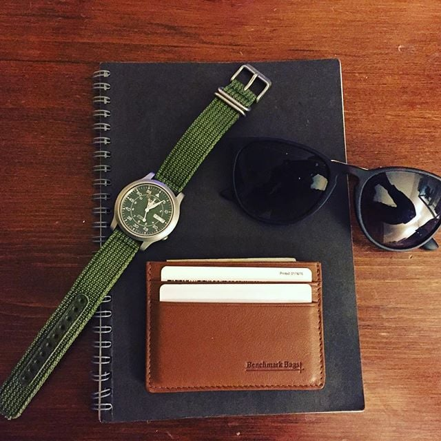 Introducing the new #BenchmarkBags #cardholder!  As always, made with full grain leather.  Don't forget - follow our account before 11/20 and get 10% off your purchase. We'll direct message you with the promo code.  #leathergoods #wallet #menstyle #gentlemanstyle #dapper