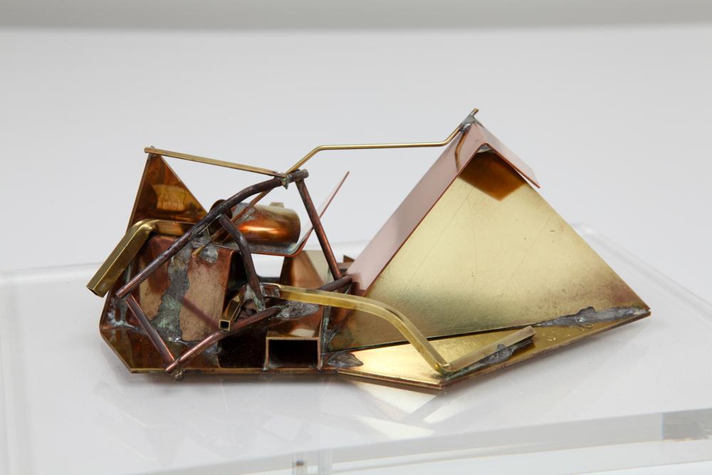 Makemake, 2016, brass, copper and mild steel, 6.5 x 18 x 12 cm