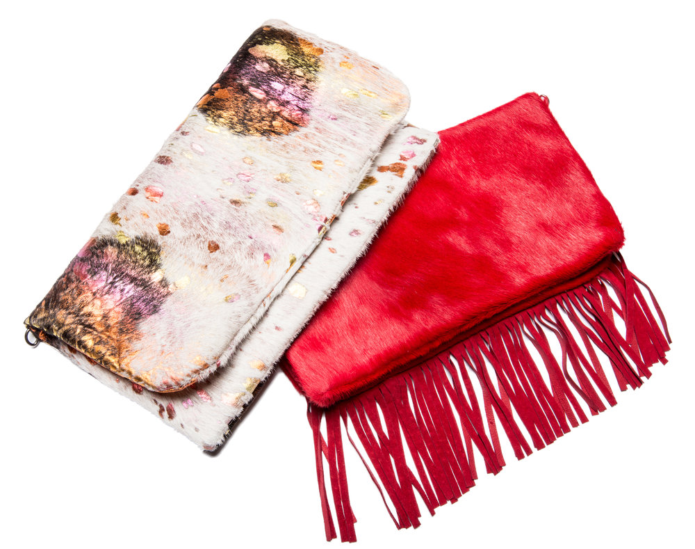 JENNIFER RAINBOW & ELIZABETH FIRE RED CLUTCHES