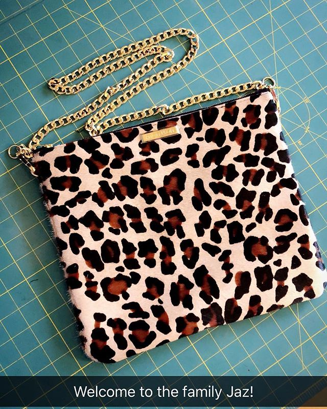 Welcome the newbie, the Jaz crossbody! 😍🐆Not online yet, message for orders. Other leathers/hair-on hides available.  Site link in bio! #jaz #crossbody #bag #custom #leather #leopard #morrison #handbags #handmade #local #dallas #christmas #holidays #gift #clutch