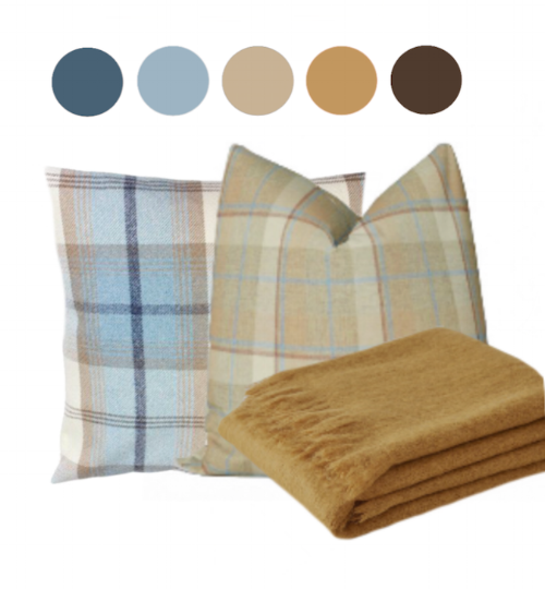 Plaid pillow scheme