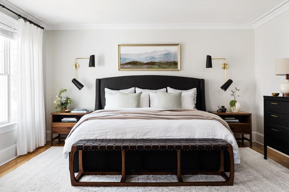 serene mid-century master bedroom design