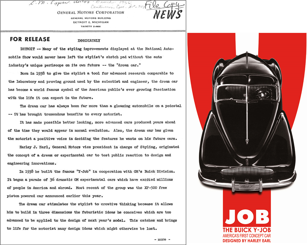 This rare and never before published press release documents Pioneer-Earl's game changing new business paradigm. While doing research in GM Design, at the GMTC in 2004, Richard unearthed a trove of hidden archival evidence (like this historic press release) on the auto industry's greatest era. Like to read the entire 3-pg press release, send us an email.