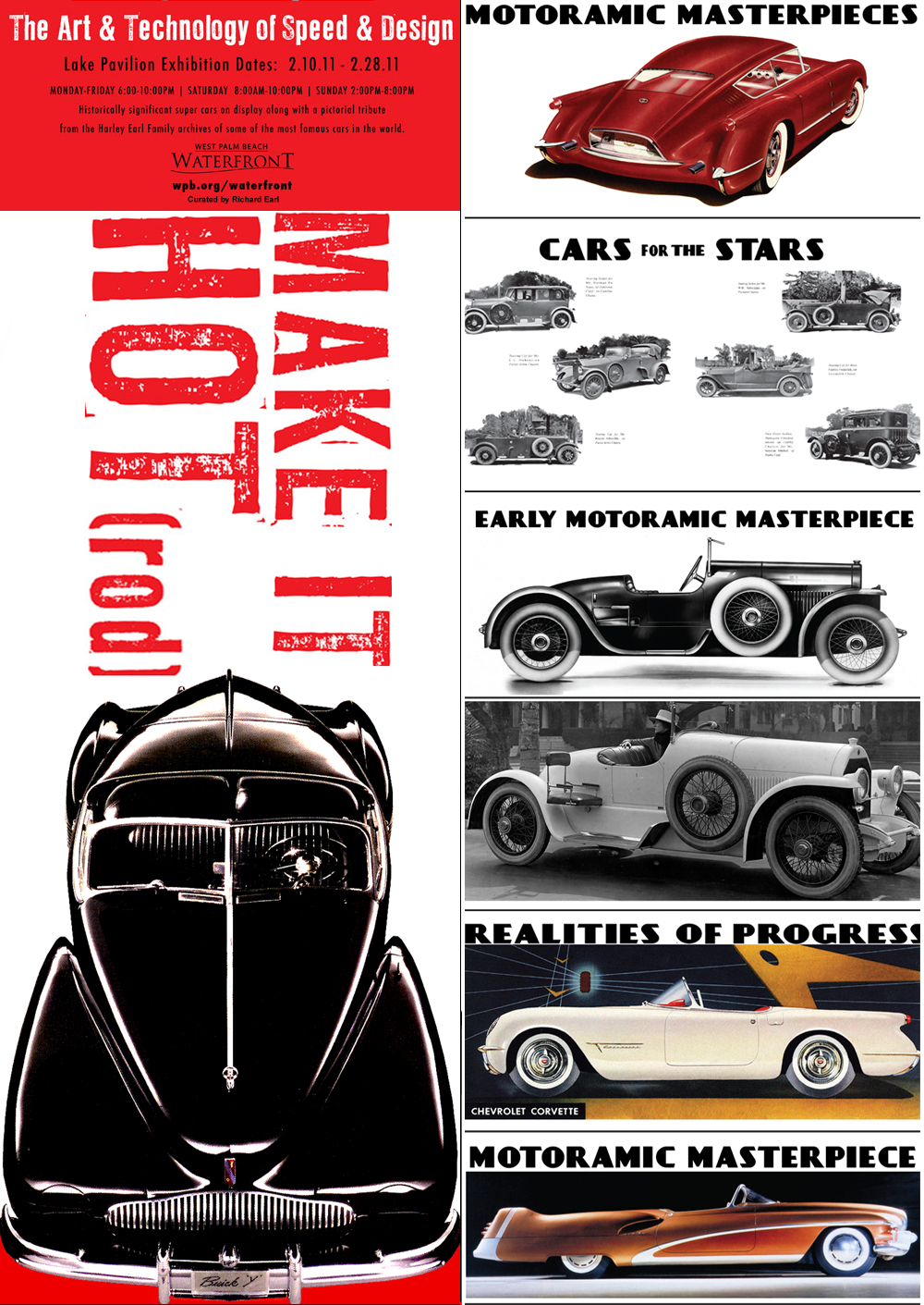 Some of the new photos that were carefully selected and added to the exhibit. Please contact us if you're interested in displaying the Harley Earl photo exhibit.