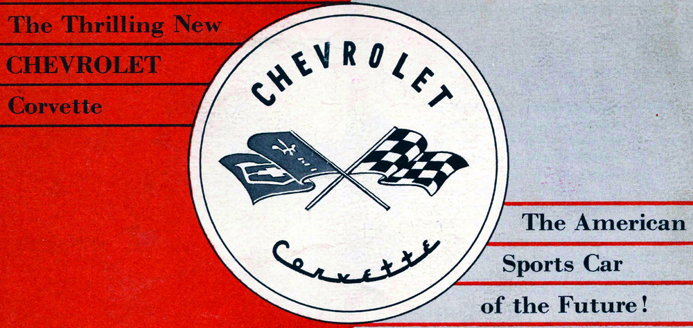 Original '53 Corvette brochure cover.