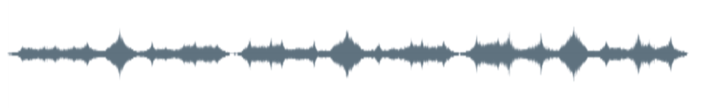 Oscillogram of a recording of  Become Ocean .