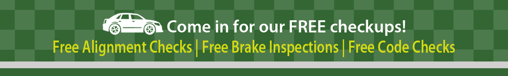 free alignment checks, free brake inspections, free code checks
