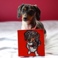 Pepsi with her portrait.