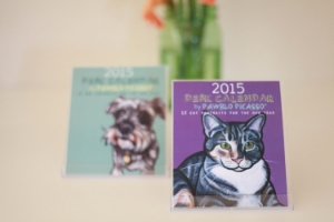 2015 Pawblo Picasso calendars! Choose one with your donation of $50 or more!