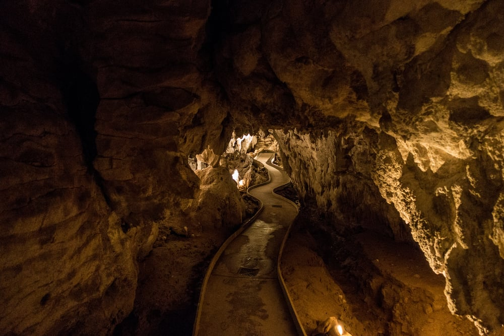 The path through CotS strategically meanders through the cave to protect certain ground formations.