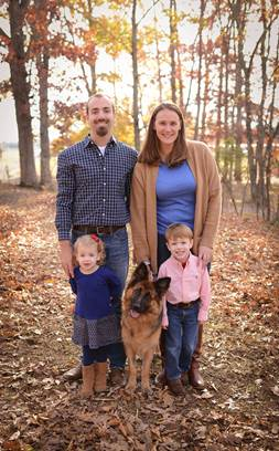 Natasha with her new family