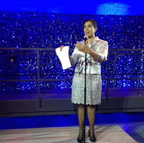 WUSA9 reporter Delia Goncalves acted as emcee for the evening.