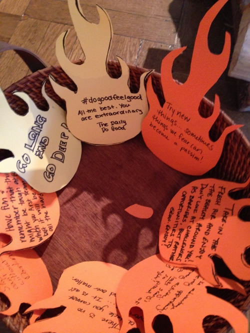 Attendees left encouraging messages for the City Kids to fan the flames of success.