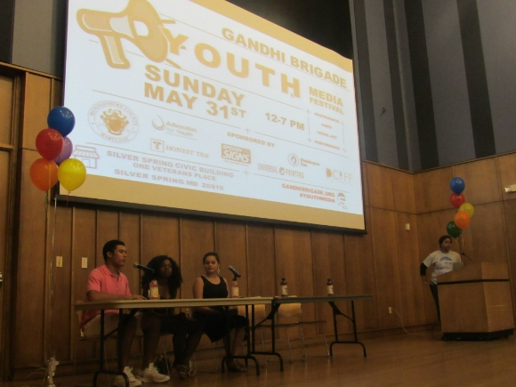 Teens participate in a panel discussion