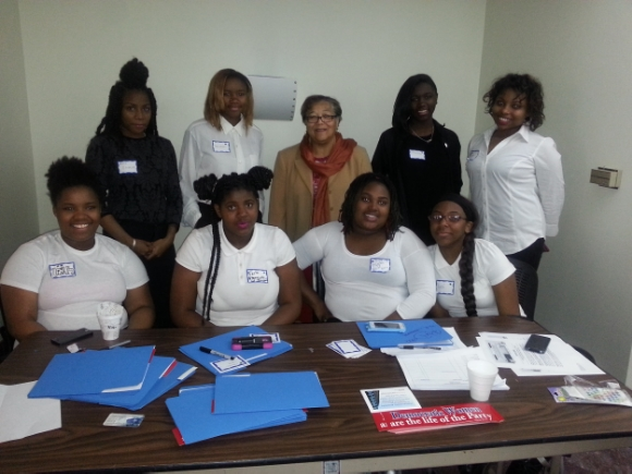 YLOT participants volunteered as ushers and hostesses at the DC Federation of Democratic Women's Legislative Empowerment Summit, where they interacted with city officials./Photo courtesy of Young Ladies of Tomorrow.