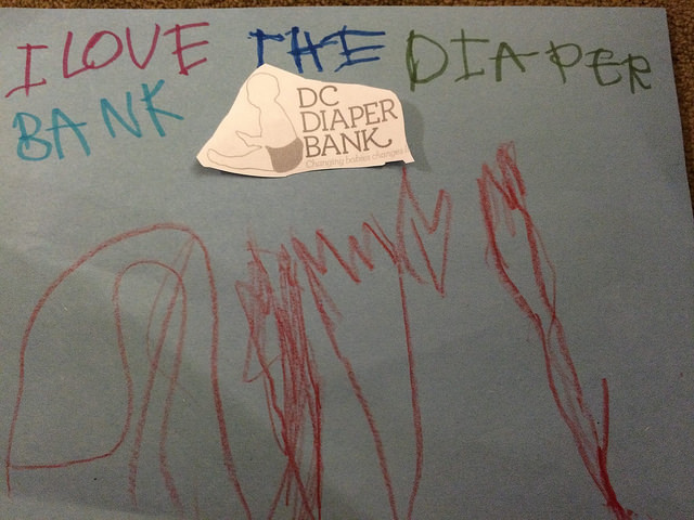 The gift of art/ Photo courtesy of DC Diaper Bank