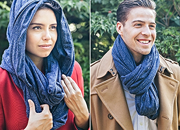 This unisex infinity scarf is called Circle of Warmth/Photo credit: Twice As Warm