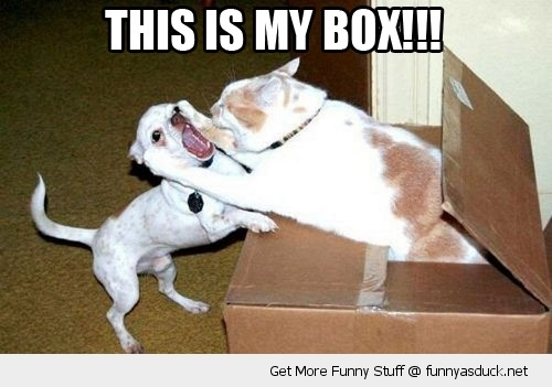 You might need to fight for your box.