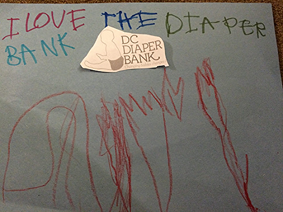 The gift of art/Photo courtesy of DC Diaper Bank