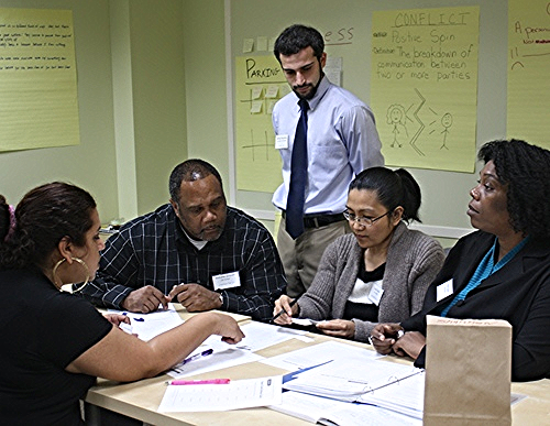 An adult education class. Photo from A Wider Circle