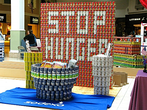 Canstruction  is a charity art exhibition of sculptures created from unopened cans of food, which are subsequently donated to hunger relief organizations.