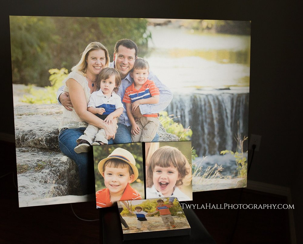 Beautiful 30x40 canvas and mini 8x10 canvases - custom designed for their home interior. This ain't yo momma's 11x14!