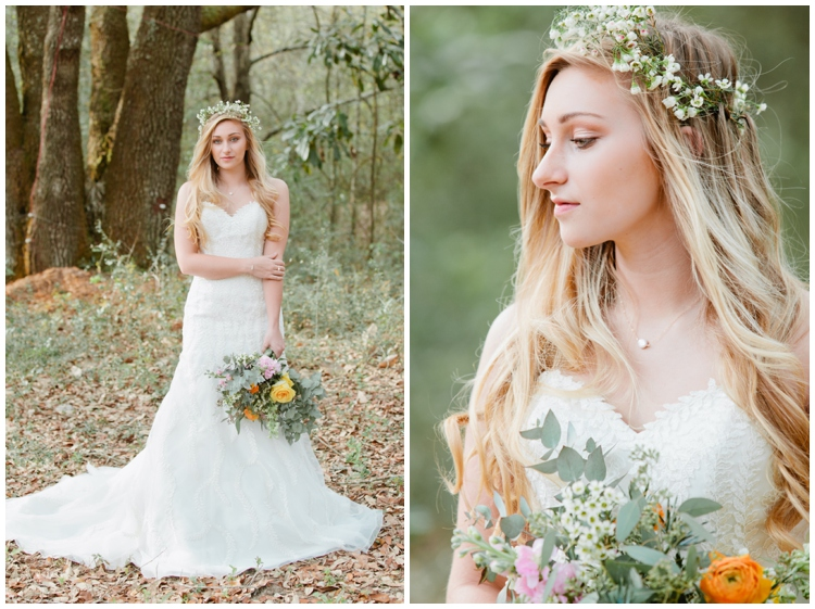 Boho Mobile Alabama Bride Photo