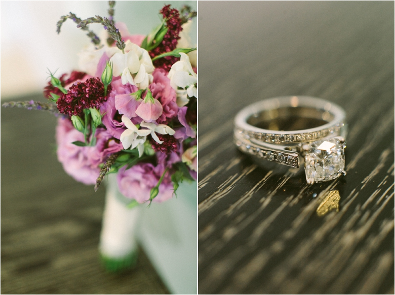 San Luis Obispo Mission Wedding Ring Flowers