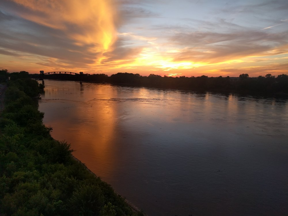Sunset over the Missouri River on a recent trip to Boonville, Missouri