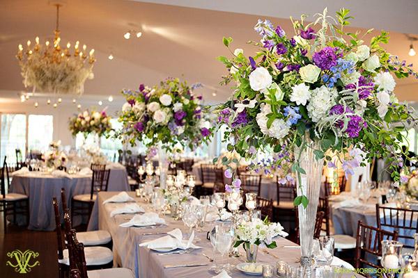 Victoria Clausen, Floral and Event Design, Baltimore/Washington DC. Tall wedding centerpieces.