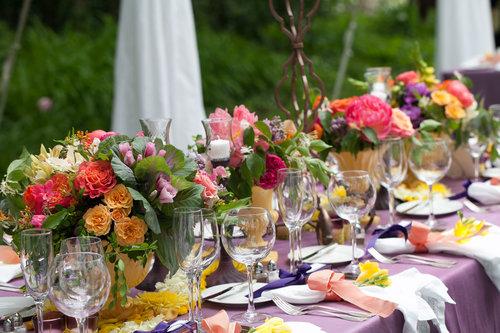 Victoria Clausen Floral EventsVibrant Backyard Wedding