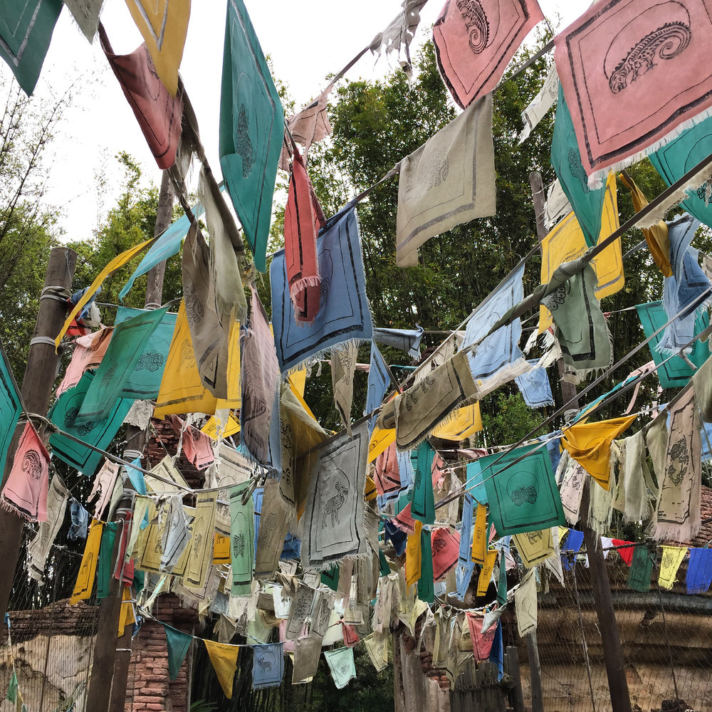 Prayer Flags, Disney's Animal Kingdom, Orlando, Florida, 2016