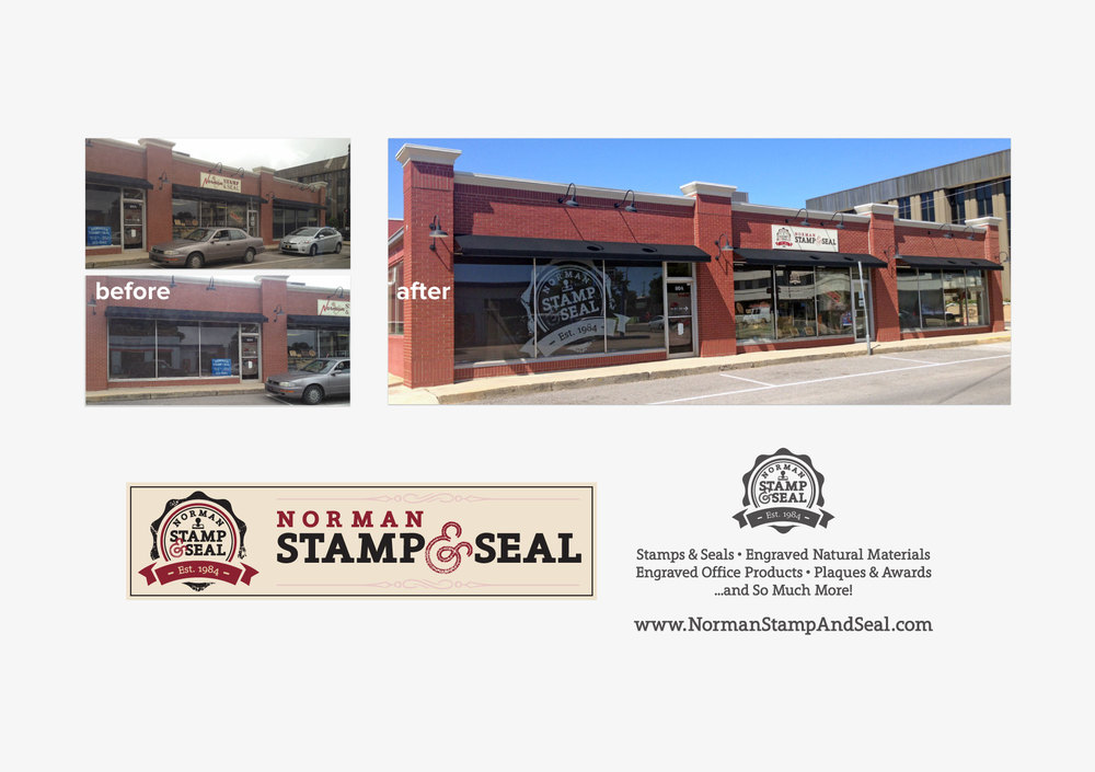 Norman Stamp & Seal Storefront Logo