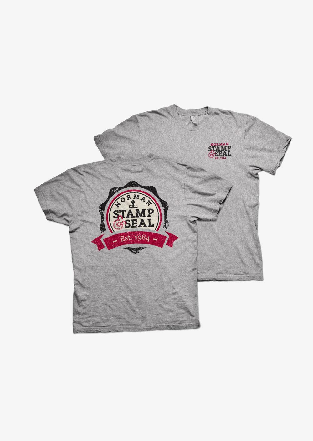 Norman Stamp & Seal T-shirt Logo