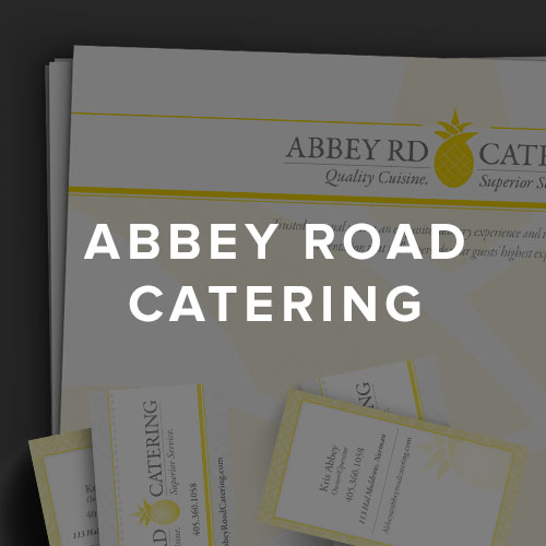 Abbey Road Catering Design Portfolio